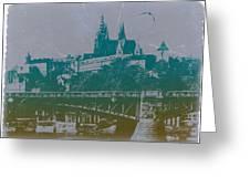 Castillo De Praga Greeting Card by Naxart Studio