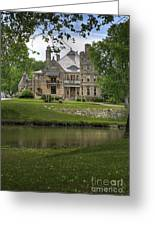 Castle Across River Greeting Card by Fred Lassmann