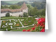 Castle Of Gruyeres Switzerland Greeting Card by Marilyn Dunlap