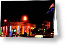 Castro Rainbows Greeting Card by Steven I Lanzet