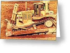 Cat Bulldozer . 7d10945 Greeting Card by Wingsdomain Art and Photography