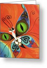 Cat-eyes Butterfly Greeting Card by Melina Mel P