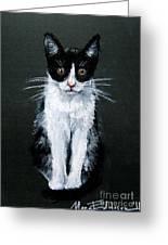 Cat I Greeting Card by Mona Edulesco