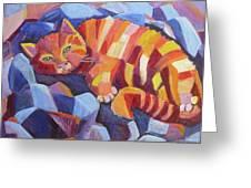 Cat Nap Greeting Card by Saga Sabin