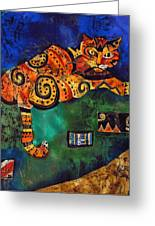 Cat Greeting Card by Sandra Kern