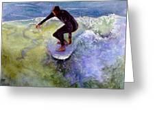 Catch A Wave Greeting Card by Bonnie Rinier
