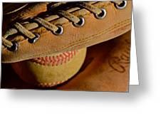 Catcher's Mitt Greeting Card by Bill Owen