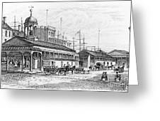 Catharine Market, 1850 Greeting Card by Granger