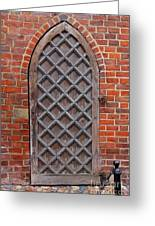 Cathedral Door In Gdansk Greeting Card by Sophie Vigneault