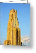 Cathedral Of Learning In Evening Light Greeting Card by Thomas R Fletcher
