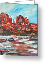 Cathedral Rock 2 Greeting Card by Sandy Tracey