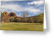 Cathedral Rock From The Park Greeting Card by Darcy Michaelchuk