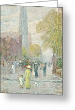 Cathedral Spires Greeting Card by Childe Hassam