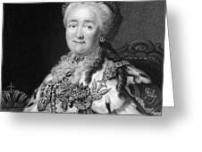 Catherine The Great, Empress Of Russia Greeting Card by Middle Temple Library