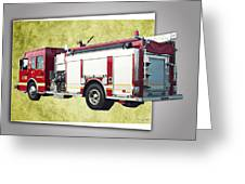 Catoosa Fire Engine 4 Greeting Card by Linda Deal