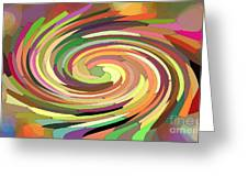 Cat's Tail In Motion. Stained Glass Effect. Greeting Card by Ausra Paulauskaite
