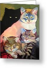 Cats Greeting Card by Tatyana Holodnova