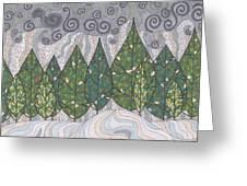 Cedar Grove Greeting Card by Pamela Schiermeyer