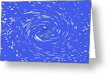 Celestial Swirl In Blue Greeting Card by Grace Dillon