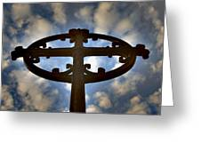 Celtic Cross Greeting Card by Phil Bongiorno