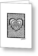 Celtic Knotwork Heart Greeting Card by Kristen Fox