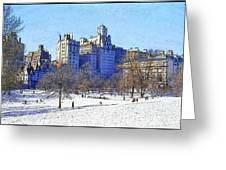 Central Park Greeting Card by Chuck Staley