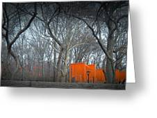 Central Park Greeting Card by Naxart Studio