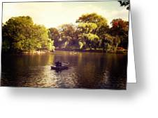 Central Park Romance - New York City Greeting Card by Vivienne Gucwa