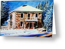 Century Farmhouse Home Greeting Card by Hanne Lore Koehler