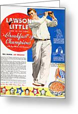 Cereal Advertisement, 1937 Greeting Card by Granger