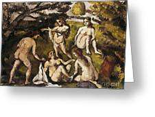 Cezanne: Five Bathers Greeting Card by Granger