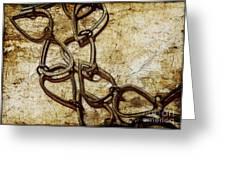 Chain Links Greeting Card by Judi Bagwell