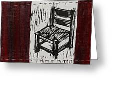 Chair I Greeting Card by Peter Allan