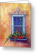 Chair In The Window Greeting Card by Tanja Ware