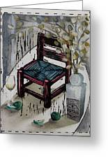 Chair X Greeting Card by Peter Allan