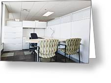 Chairs and Desk in Office Cubicle Greeting Card by Jetta Productions, Inc
