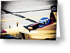 Champ Car Driver Greeting Card by Darcy Michaelchuk