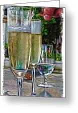 Champagne At The Beach Greeting Card by Joan  Minchak