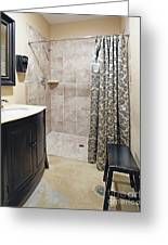 Changing Room And Shower Greeting Card by Skip Nall