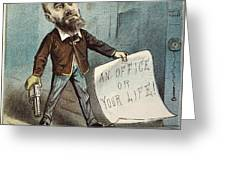 Charles Guiteau Cartoon Greeting Card by Granger