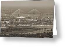 Charleston South Carolina Aerial Greeting Card by Dustin K Ryan