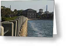 Charleston South Carolina Waterfront Battery Greeting Card by Dustin K Ryan