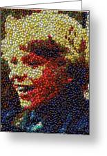 Charlie Buckets Fizzy Lifting Drinks  Bottle Cap Mosaic Greeting Card by Paul Van Scott