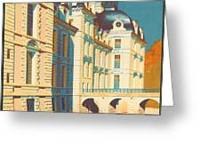 Chateau de Cheverny Greeting Card by Nomad Art And  Design