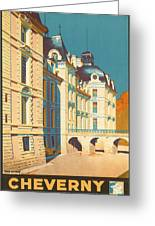 Chateau De Cheverny Greeting Card by Georgia Fowler