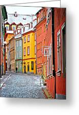 Cheb An Old-world-charm Czech Republic Town Greeting Card by Christine Till