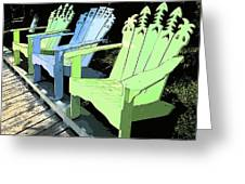 Cheerful Adirondacks Greeting Card by Michelle Wiarda
