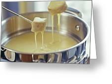 Cheese Fondue Greeting Card by David Munns