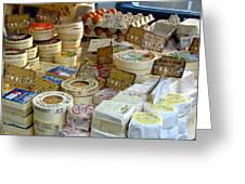 Cheese For Sale Greeting Card by Carla Parris