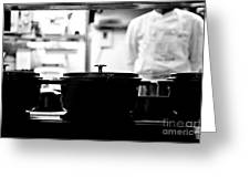 Chef Greeting Card by Dean Harte
